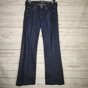 7 For All Mankind Dojo Flare Denim Jean Size 28